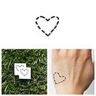 Tattify Dashed Heart - Temporary Tattoo (Set of 4)