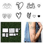 Tattify Hearts Set - Temporary Tattoos (Set of 9)