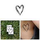 Tattify Heart's a Mess - Temporary Tattoo (Set of 2)