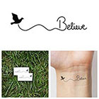 Tattify Believe - temporary tattoo (Set of 2)