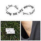 Tattify Infinity - Love Life - Temporary Tattoo (Set of 2)