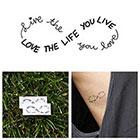 Tattify Infinity - Love Life - Temporary Tattoo (Set of 2)