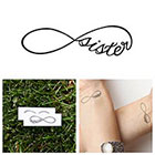 Tattify Infinity - Sister - Temporary Tattoo (Set of 2)