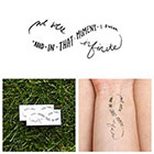 Tattify Infinity - Perks of Being a Wallflower Quote - Temporary Tattoo (Set of 2)