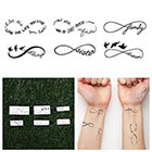 Tattify Infinity Symbol Set - Temporary Tattoo (Set of 6)