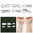Tattify Infinity Symbol Set - Temporary Tattoo (Set of 6)