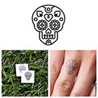 Tattify Sugar Skull - Temporary Tattoo (Set of 6)