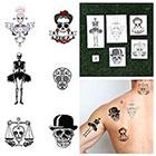 Tattify Skulls - Temporary Tattoos (Set of 6)