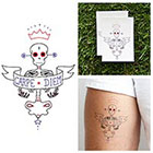 Tattify Carpe Diem Skeleton - Temporary Tattoo (Set of 2)