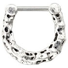 Supreme Jewelry Septum Nose Ring in Silver and Black