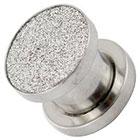 Supreme Jewelry Plug Earrings Gauge 2 in Silver
