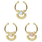 Supreme Jewelry Septum Nose Ring with Stones in Multicolor