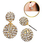Target Zirconite Women's Zirconite Crystal Pave Peekaboo Earring - Gold