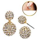 Target Zirconite Women's Zirconite Crystal Pave Peekaboo Earring - Gold
