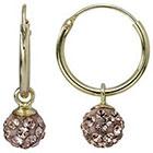 Target 14K Gold Crystal Ball Hoop Earring - Gold