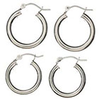 Target SterlingSilver Hoop Earrings 2-pair