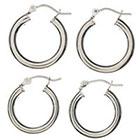 Target SterlingSilver Hoop Earrings 2-pair