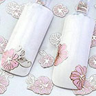 Amazon Lovely 24 Sheets 3D Pink Flower Manicure Nail Art Sticker Tips Decoration