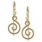 Tressa Collection Dangle Earrings with Handcrafted Swirl - Gold