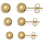 JCPenney SILVER REFLECTIONS Silver Reflections Ball Stud 3-pr. Earrings