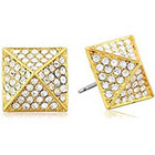 Vince Camuto Gold and Crystal Pave Stud Earrings in Gold
