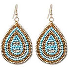Natasha Accessories Imitation Gold Earring with Seed Beads - Multicolor (3