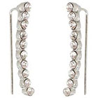 Target Crawler Earrings - Gray/Clear