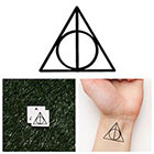 Tattify Harry Potter - Deathly Hallows- Temporary Tattoo (Set of 2)