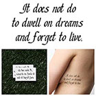 Tattify Harry Potter - Don't Forget to Live - Temporary Tattoo (Set of 2)