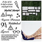 Tattify Harry Potter - Temporary Tattoo (Set of 24)