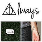 Tattify Harry Potter - Always - Temporary Tattoo (Set of 2)