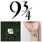 Tattify Harry Potter - Platform 9 3/4 - Temporary Tattoo (Set of 2)