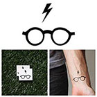 Tattify Harry Potter - Glasses - Temporary Tattoo (Set of 2)