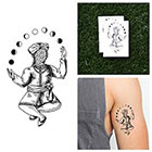 Tattify Moon Phase Juggler - Temporary Tattoo (Set of 2)