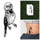 Tattify Skull Bird - Temporary Tattoo (Set of 2)
