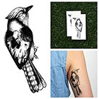 Tattify Creepy Bird - Temporary Tattoo (Set of 2)