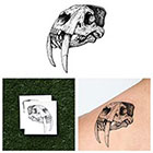 Tattify Sabertooth Skull - Temporary Tattoo (Set of 2)