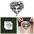 Tattify Skull in Roses - Temporary Tattoo (Set of 2)
