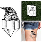 Tattify Diamond Bird - Temporary Tattoo (Set of 2)