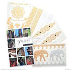 Flash Tattoos Sheebani - Authentic Metallic Temporary Tattoos Assorted One