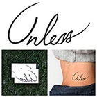 Tattify Unless - Temporary Tattoo (Set of 2)