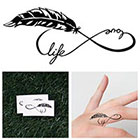 Tattify Infinity Feather Symbol - Temporary Tattoo (Set of 2)