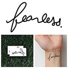 Tattify Fearless - Temporary Tattoo (Set of 2)