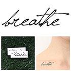 Tattify Breathe - Temporary Tattoo (Set of 2)