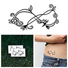 Tattify Ornate Infinity Symbol - Temporary Tattoo (Set of 2)