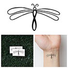 Tattify Infinity Dragonfly - Temporary Tattoo (Set of 2)