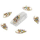 Amazon YESURPRISE New Trendy 10 Alloy 3D Colorful Crystal Rhinestone Nail Art Cute Glitter DIY Decoration Fashion Gift Style 17