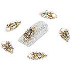 Amazon YESURPRISE New Trendy 10 Alloy 3D Colorful Crystal Rhinestone Nail Art Cute Glitter DIY Decoration Fashion Gift Style 17
