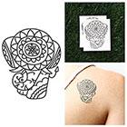 Tattify Detailed Elephant - Temporary Tattoo (Set of 2)