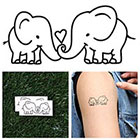Tattify Elephant Couple - Temporary Tattoo (Set of 2)